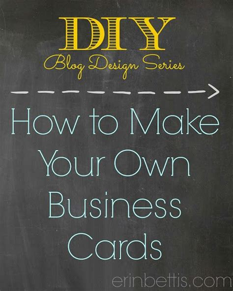 how to make your own business cards free make my own business cards template