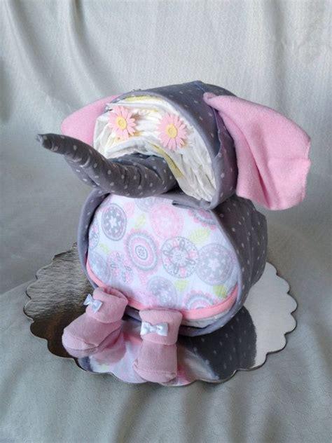 elephant shaped diaper cake  baby booty diaper cakes baby booty diaper cakes pinterest