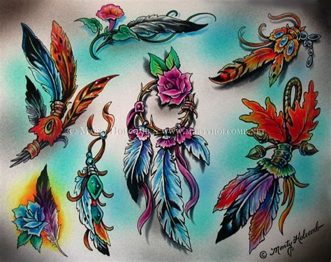 tattoo flash feather feathers by artistic tattooing on deviantart