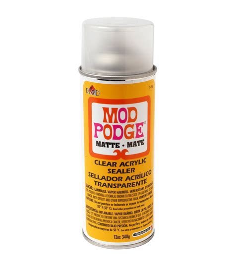 Acrylic Sealer mod podge clear acrylic aerosol sealer 12oz matte jo