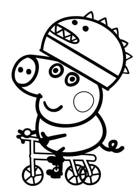 colouring pictures of peppa pig and george peppa pig george colouring pages