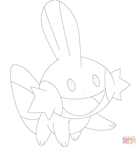 mudkip coloring page free printable coloring pages