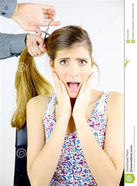 women hair cut by husband i chopped off all my hair woman scared about getting all her big long hair cut off