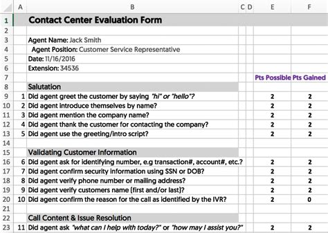 Call Center Scorecard Template Images Template Design Ideas Call Center Scorecard Template