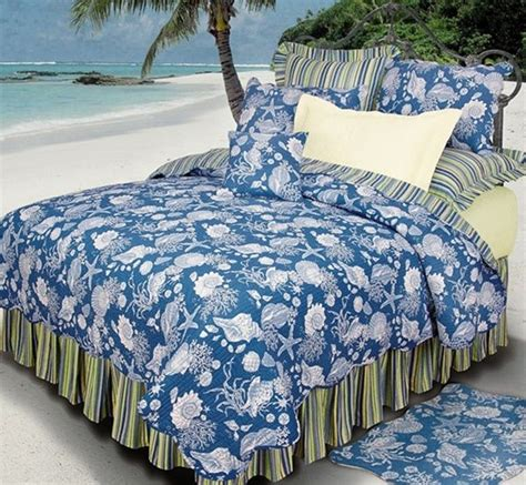 tropical bedspreads and coverlets tropical quilts blue shells quilts accessories c f