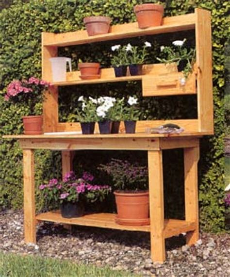 free potting bench plans download how to build a wooden potting bench plans free
