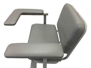 custom comfort medtek custom comfort medtek debuts sliding l arm for clinical chairs