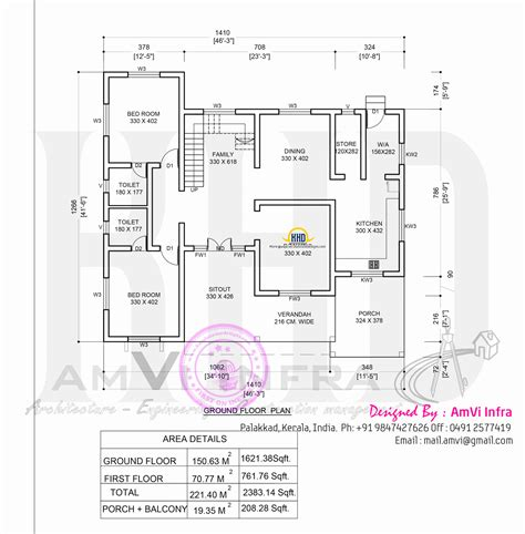 floor plan with roof plan flat roof contemporary floor plans kerala home design