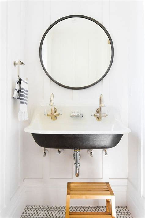 small round bathroom mirrors best 25 trough sink ideas on pinterest