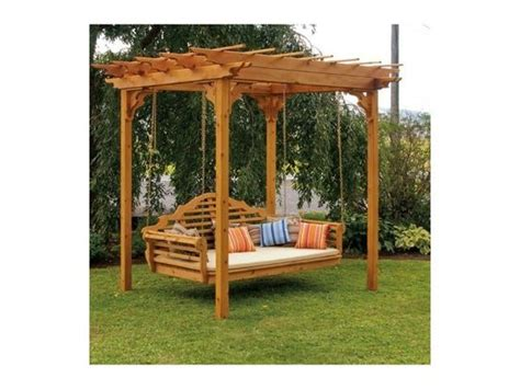 cedar pergola swing cedar pergola swing bed stands would love this for a