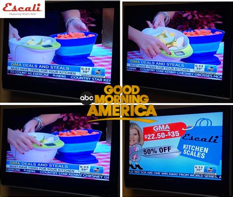 Good Morning America Giveaways - escali scales featued on good morning america deals steals kitchen edition