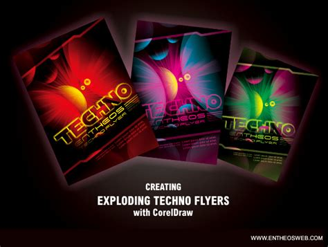 flyer design tutorial corel draw techno flyer design in corel draw free coreldraw tutorials