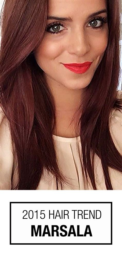 hair color of the year 2015 2015 color of the year is marsala check out how this
