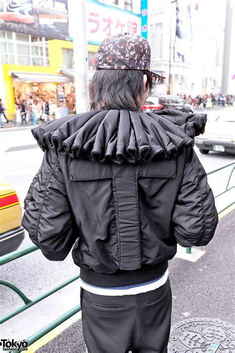 Harajuku Jaket G harajuku s phenomenon ruff collar cross jacket spikes