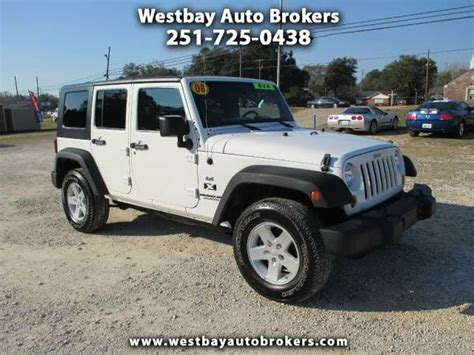 Jeep Dealer Mobile Al 2008 Jeep Wrangler Unlimited X For Sale In Mobile Al