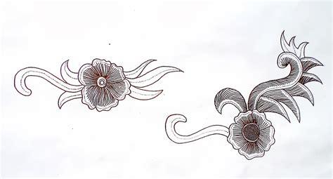 desain gambar flora guru batik blog membuat desain motif tumbuhan binatang
