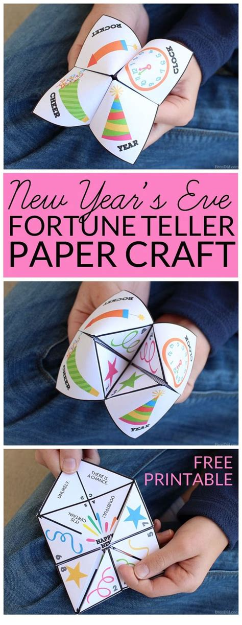 Fortune Teller Paper Craft - new year s fortune teller paper craft