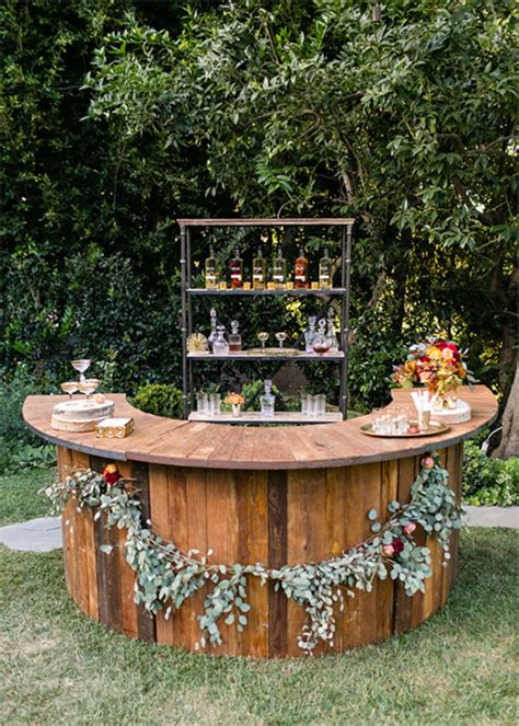 Outdoor Bar Top Ideas by Outdoor Rustic Wedding Bar Ideas Tulleandchantilly