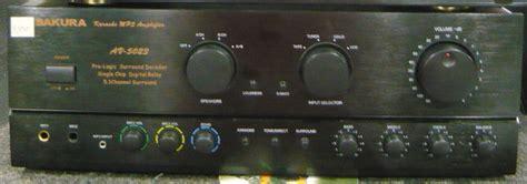 sakura av  karaoke integrated amplifier cebu