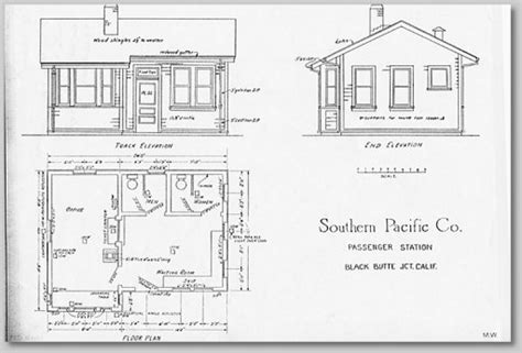 railroad house plans depot and yard