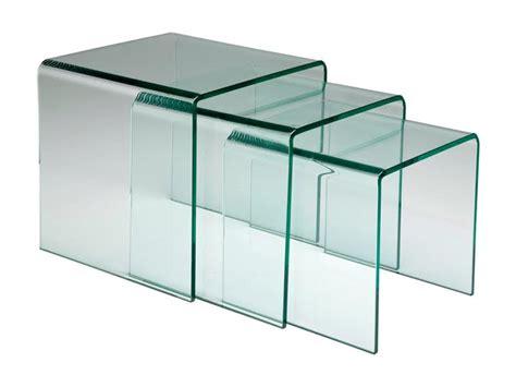 bout de canapé verre table gigogne bout canap 233 verre meuble bois deco nord