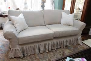 Shabby Chic Loveseat Slipcovers shabby chic sofa ruffle slipcover by vintagechicfurniture