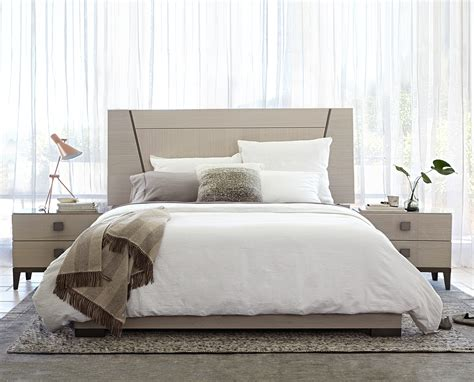 dania bedroom furniture monchiaro bed and nightstands from dania furniture co