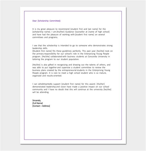 high school recommendation letter high school recommendation letter 5 useful sle letters