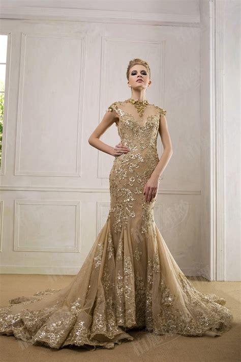Wedding Dress Gold by Luxury Gold Wedding Dress Weddceremony