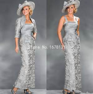 new silver grey lace sheath mother of the bride dresses