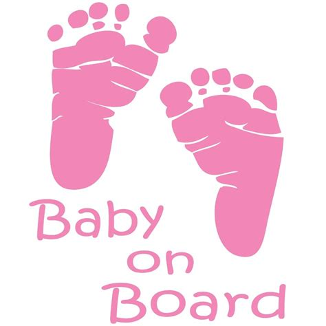 baby on board template baby clipart best