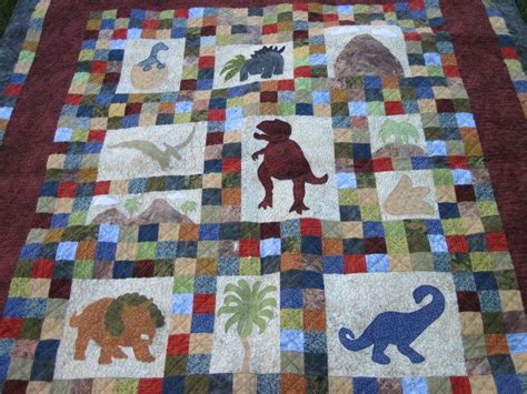 Dinosaur Quilt Patterns For Free by Dinosaur Quilt Pattern Dinosaurs On Baby