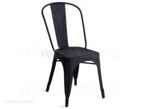 tolix marais style chair textured matt black chair