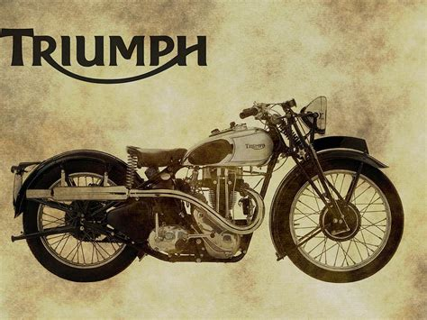 Alte Triumph Motorrad by Vintage Triumph Motorcycles Photograph By Dan Sproul