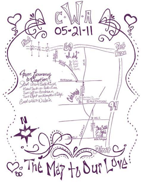 Wedding Card Route Map by Diy Invitation Map Weddingbee