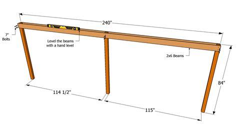 beam plans post and beam carport designs furnitureplans