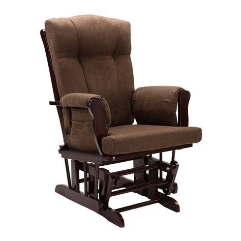 Glider Rocking Chair And Ottoman In Espresso Wm4041 Glider Chairs And Ottomans