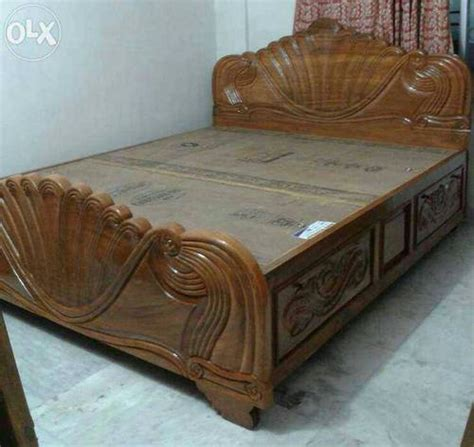 bed with box wooden bed heavy designed box bed sudeshna furnitures
