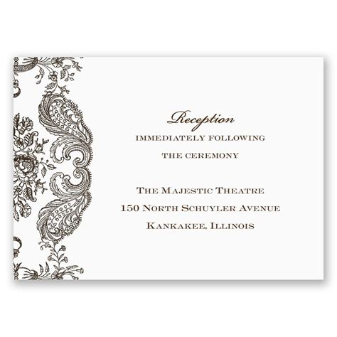 wedding reception cards rustic lace reception card invitations by