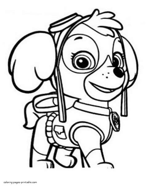 paw patrol blank coloring pages to print paw patrol printable coloring pages