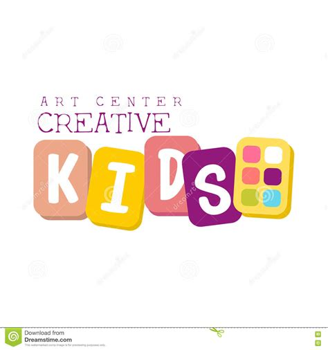 kids logo design stock illustration image of childhood kids creative class template promotional logo with