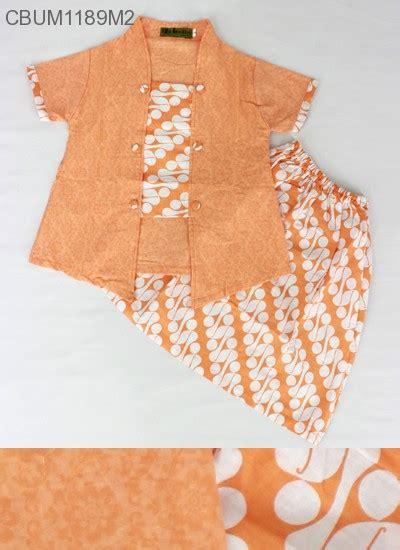 Setelan Kebaya Katun Tarya Orange setelan kebaya anak pendek motif parang setelan murah batikunik
