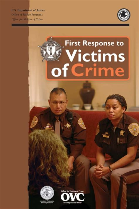 Office For Victims Of Crime by Response To Victims Of Crime A Guidebook For
