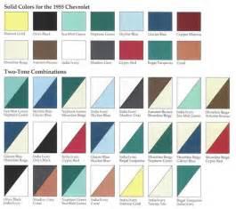 1955 chevrolet colors 1955 classic chevrolet