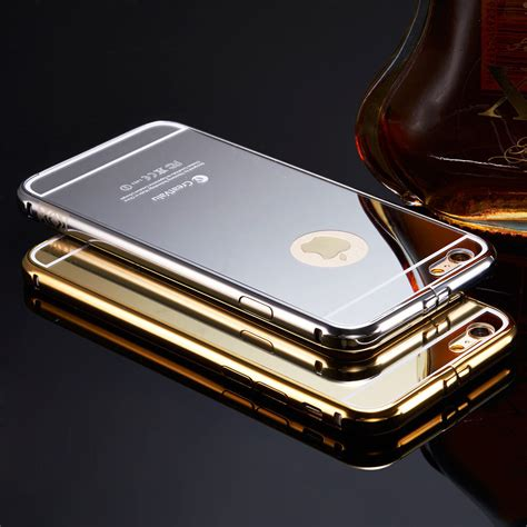 Mirror Iphone luxury aluminum ultra thin mirror metal cover for