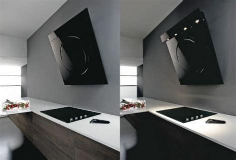 Black Appliances Kitchen Design New Modern Cooking Hood By Elica Digsdigs