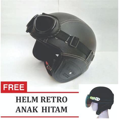 Obral Helm Bogo Dewasa kreasi lokal helm retro classic kaca bogo dewasa coklat