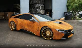 Bmw Wrap Mahone S Rust Wrapped Bmw I8 With Vossen Wheels Gtspirit