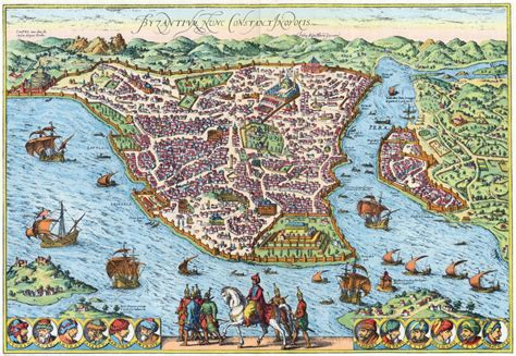 constantinople ottoman empire amazing maps of medieval cities daily infographics