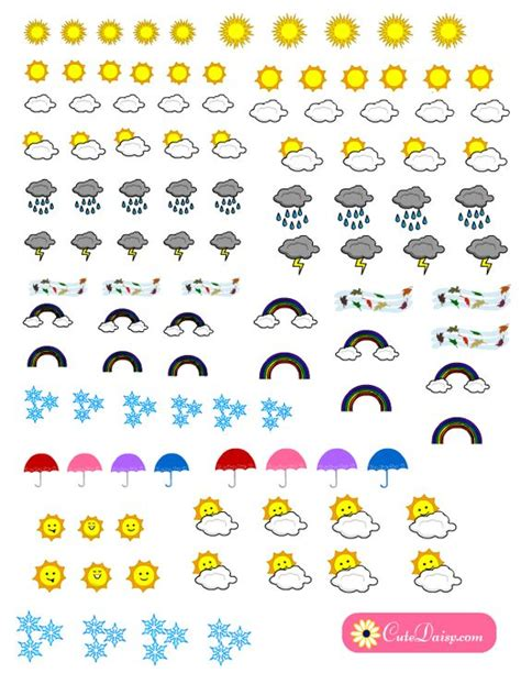 printable weather stickers free printable weather stickers for planner free planner